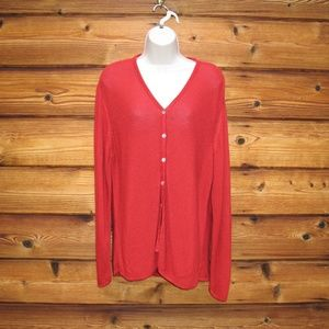 Asks Fifth Avenue Red Cardigan Sweater XL